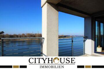 CITYHOUSE: Exklusiver Rheinblick, oberste Etage, Komfortwohnung mit Balkon, Aufzug, 2 TG Stellplätze, 51063 Köln, Etagenwohnung